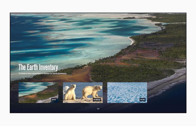 L'app The Explorers in esecuzione su Apple TV