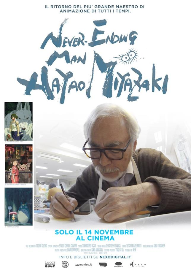 Poster ufficiale del documentario Never-Ending Man: Hayao Miyazaki