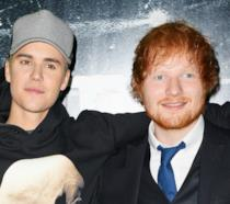 I due cantanti e amici Ed Sheeran e Justin Bieber