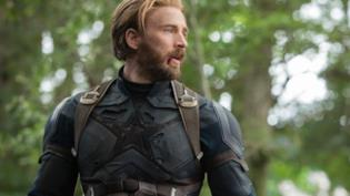 Chris Evans nei panni di Capitan America in Avengers: Infinity War