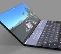Un concept di Mate X, il presunto dispositivo pieghevole di Huawei