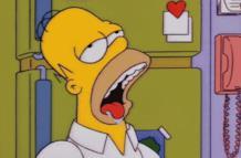 Homer sbava copiosamente