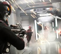 Una sequenza d'azione in Star Wars Battlefront 2