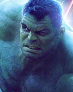 Il poster del personaggio di Hulk