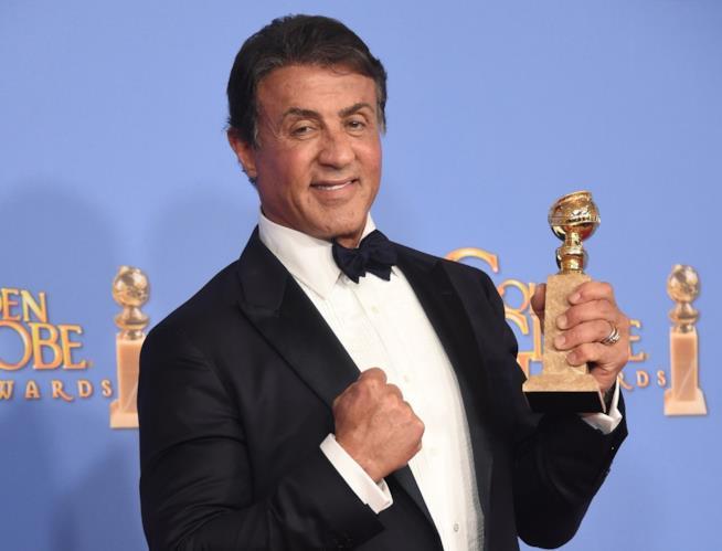 Sylvester Stallone col suo Golden Globe