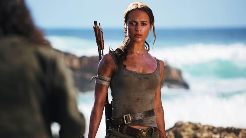 Alicia Vikander nei panni di Lara Croft nel film del 2018 Tomb Raider