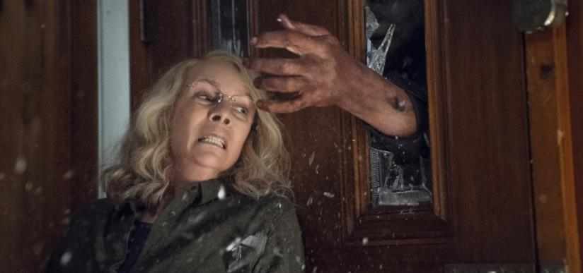 Michael Myers e Laurie Strode in una scena del film