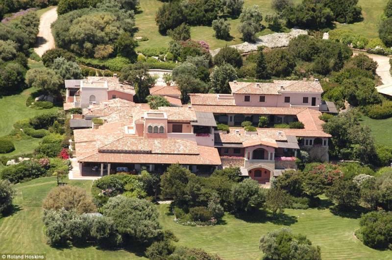 Villa Certosa, la residenza sarda di Berlusconi