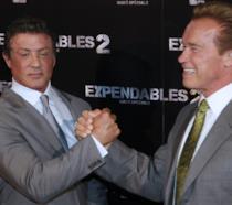 Sylvester Stallone con Arnold Schwarzenegger