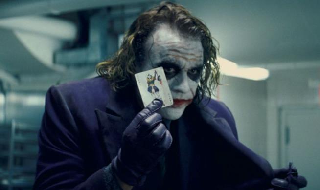 Heath Ledger nel ruolo di Joker