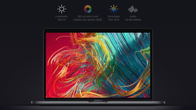 Dettagli sul nuovo display dei MacBook Pro con Touch bar da 13 e 15 pollici