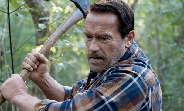 Arnold Schwarzenegger con un'accetta in Aftermath
