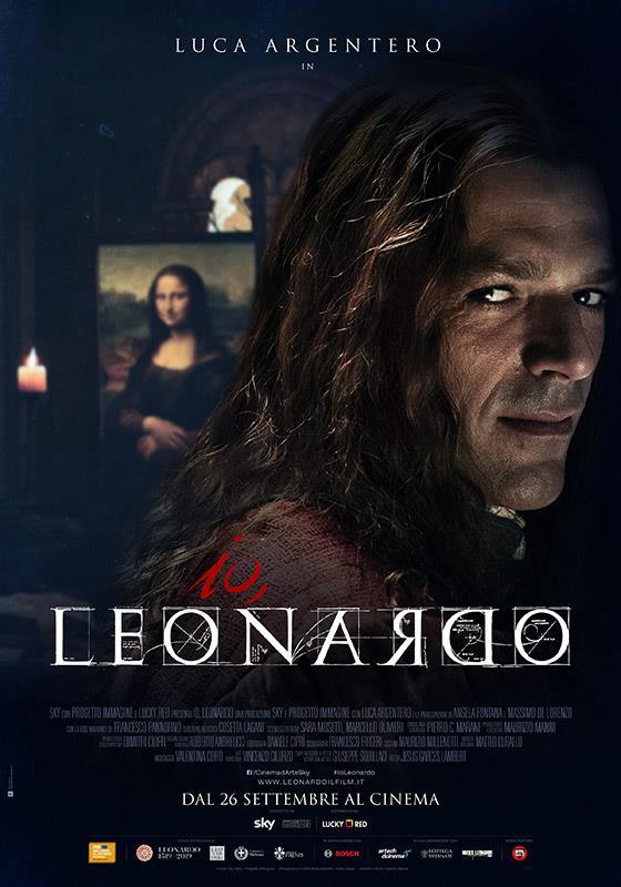 Il poster del film dedicato a Leonardo Da Vinci