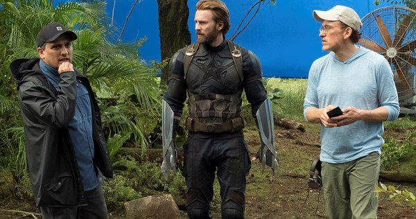 I Russo con Captain America sul set di Infinity War