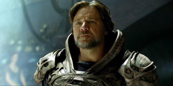 Russell Crowe in L'uomo d'acciaio
