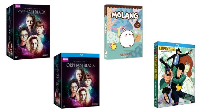 Orphan Black, Molang e Lupin III in Home Video