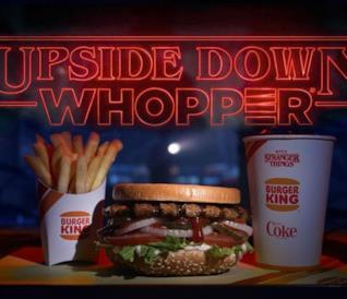 Il panino uspidedown di Burger King