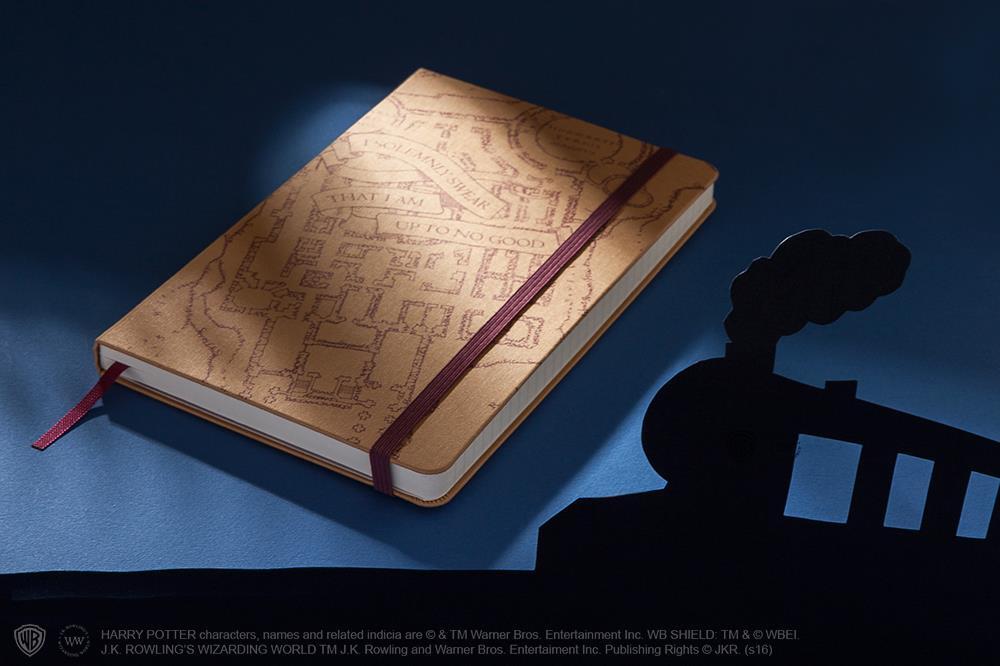 Il taccuino chiuso dell'edizione limitata Moleskine su Harry Potter