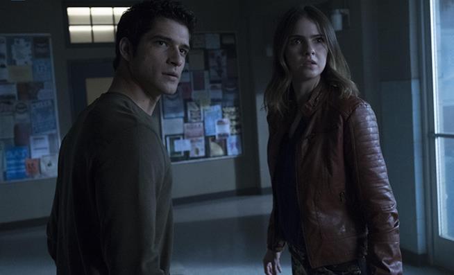 Scott e Malia in una scena del finale di Teen Wolf