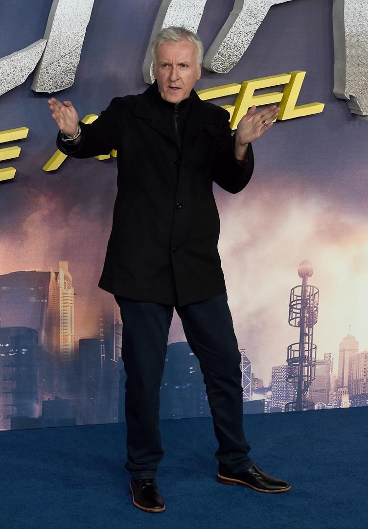 James Cameron alla prima di Alita - Angelo della battaglia