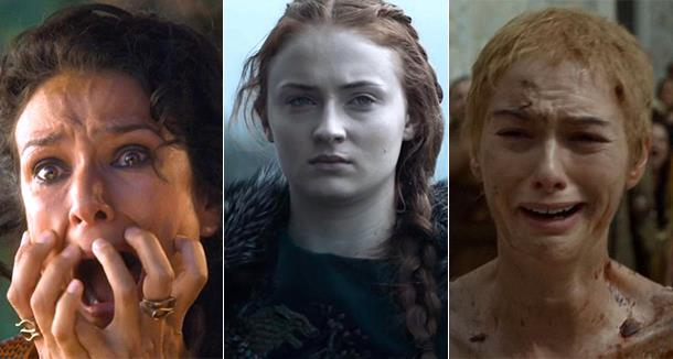 Ellaria, Sansa e Cersei in un collage di Game of thrones
