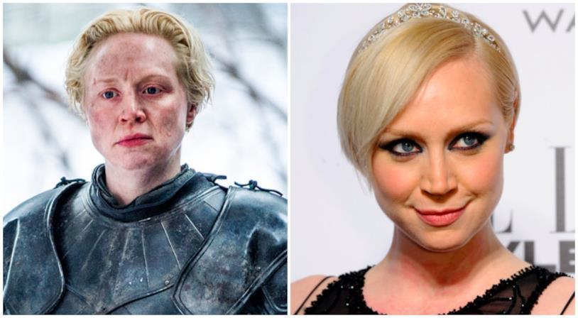 Un collage tra Gwendoline Christie e Brienne