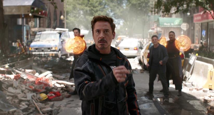 Tony Stark in una scena di Avengers: Infinity War