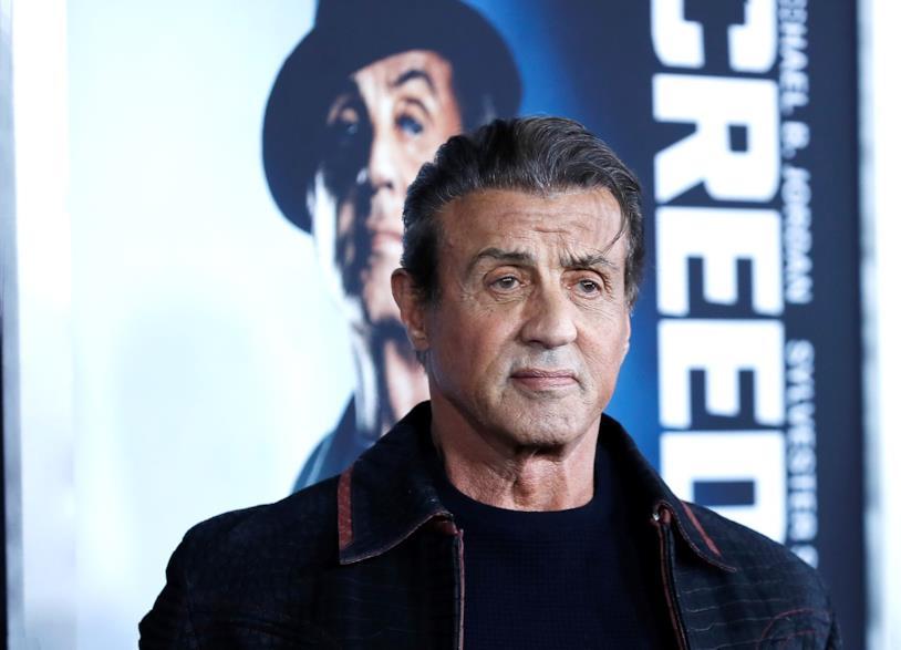 Sylvester Stallone, attore americano, posa per i fotografi