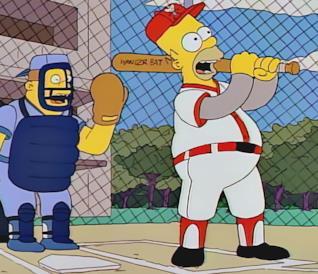 """Homer e la sua """"wonderbat"""" in una scena dell'episodio"""