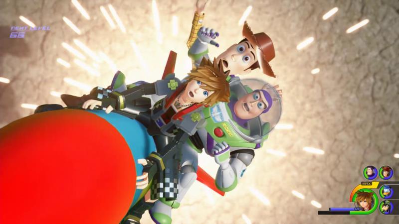 Sora, Buzz e Woody nel mondo di Toy Story