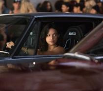 Michelle Rodriguez in una scena del film Fast & Furious 6