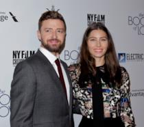Primo piano di Justin Timberlake e Jessica Biel