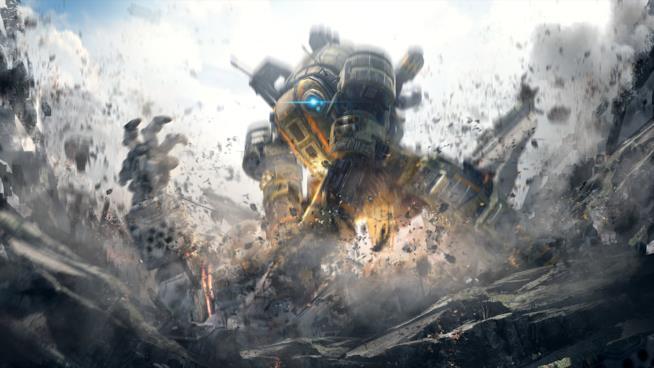 Una delle spettacolari cover art per il lancio di Titanfall