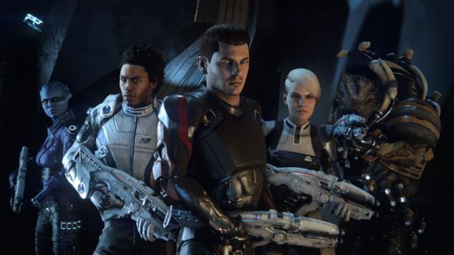 L'intero equipaggio della Tempest da Mass Effect: Andromeda