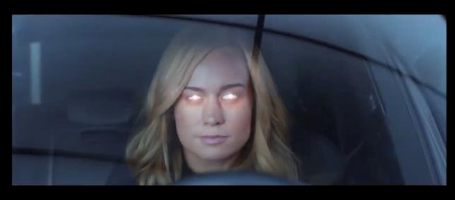 Carol si scalda per il combattimento nello spot Audi/Marvel