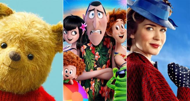 Winnie Pooh, Drac e famiglia e Mary Poppins