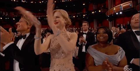 Oscar 2017, come batte le mani Nicole Kidman?