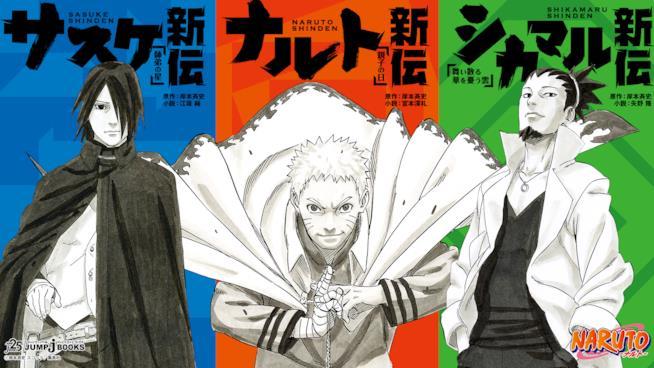 Le copertine di Sasuke, Naruto e Shikamaru Shinden