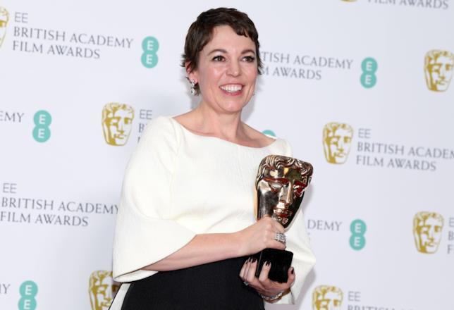 Olivia Colman ai BAFTA 2019
