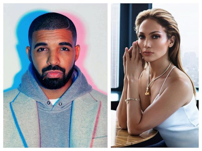 Primo piano di Drake e Jennifer Lopez