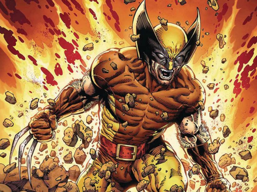 Un'immagine di Wolverine come concepito nei fumetti