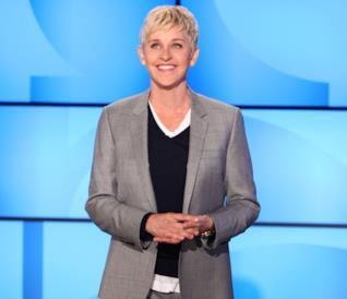 Una sorridente Ellen DeGeneres durante il suo show