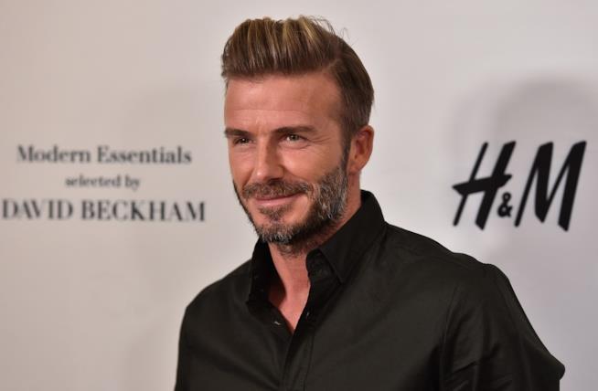 Un ammaliante primo piano di David Beckham