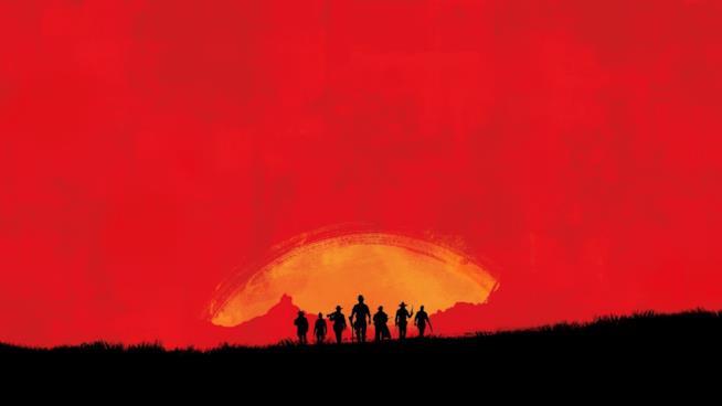 Un'immagine promozionale di Red Dead Redemption 2