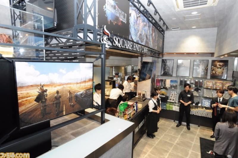 L'ingresso dello Square Enix Cafe