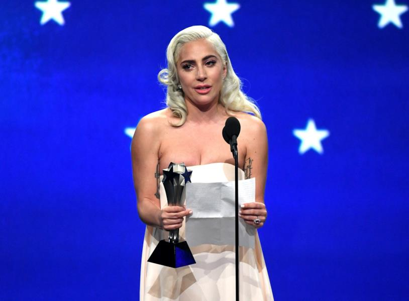 Lady Gaga ai Critics' Choice Awards 2019