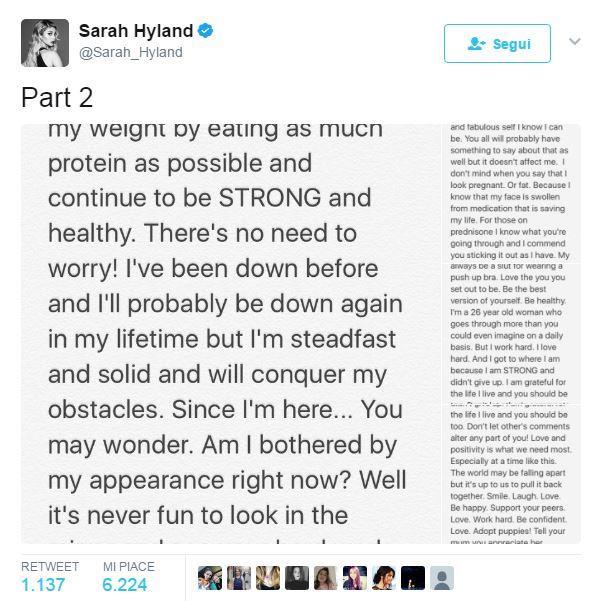 Sarah Hyland spiega la sua magrezza
