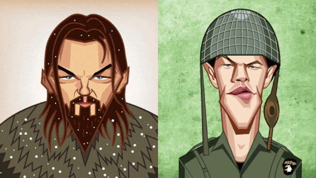 Leonardo DiCaprio in the Reveant e Matt Damon in Salvate il Soldato Ryan