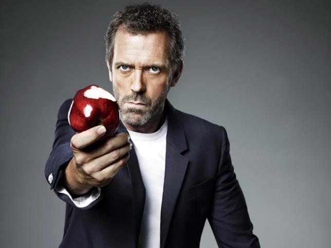 Dr. House con una mela protesa