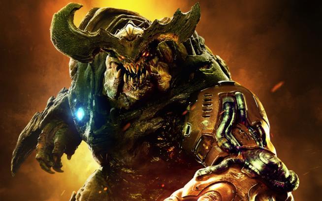 Un demone di Doom in un artwork ufficiale del gioco